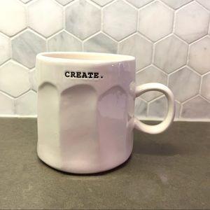 """3/$30 Rae Dunn Typewriter Font Mug """"CREATE"""""""